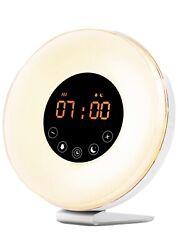 SALE Wake Up Light Alarm Clock Digital LED MoodRGB  Switch Radio Sunrise Natural