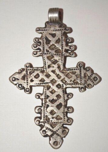 RARE Antique Ethiopian Coptic Christian Cross Pendant From Ethiopia, Africa