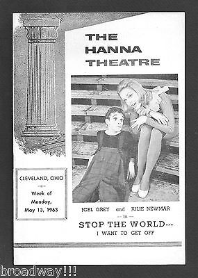 """Joel Grey """"STOP THE WORLD"""" Julie Newmar / Anthony Newley 1963 Cleveland Playbill"""