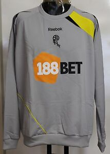 BOLTON-WANDERERS-LIGHT-GREY-CREW-SWEAT-BY-REEBOK-SIZE-LARGE-BRAND-NEW