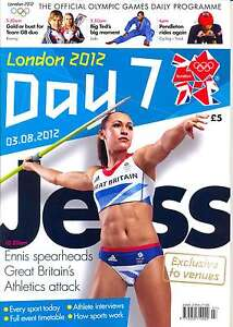 ** OLYMPIC GAMES DAY 7 SEVEN DAILY PROGRAMME LONDON 2012 **