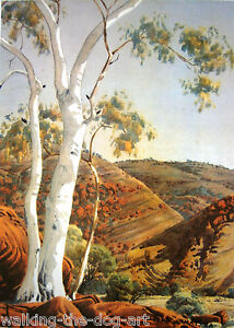 ALBERT NAMATJIRA  'GHOST GUM, JAMES RANGE'  PRINT