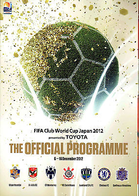 FIFA CLUB WORLD CUP 2012 Official Programme inc CHELSEA