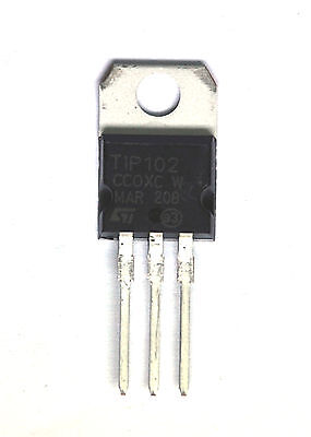 100pc Npn Darlington Transistor Tip102 St To-220 Vceo100v Ic8a Pd80w Hfe2500