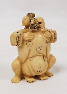 Antique Vintage Signed Erotic Netsuke