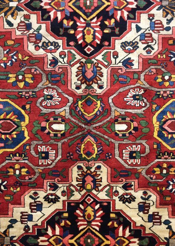 Terrific Tribal - 1920s Antique Oriental Rug - Nomadic Carpet - 10.7 X 13.1 Ft.