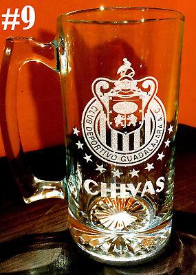 Laser Engraved Beer - CHIVAS Del GUADALAJARA A.C. sport Beer Mug 26.5 oz Personalized Laser Engraved