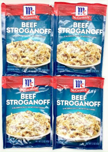 4 Packets of McCormick Beef Stroganoff Sauce Mix BB: 05/2021