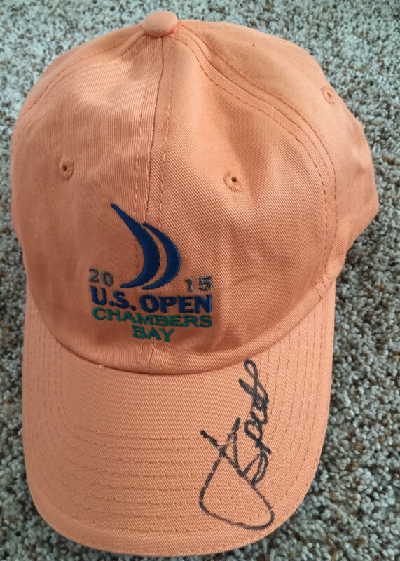 Jordan Spieth Signed 2015 US Open Golf Hat Spieth Wins Chambers Bay with proof