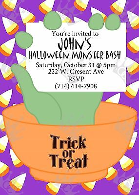 Halloween Invite Template DIY Print at home  - At Home Halloween