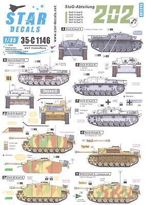 Star Decals 1/35 STUG ABTEILUNG 202 German Sturmgeschutz III, used for sale  USA