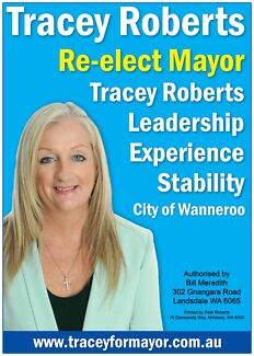 Re-elect Mayor Tracey Roberts and Cr Russell Driver Quinns Rocks Wanneroo Area Preview