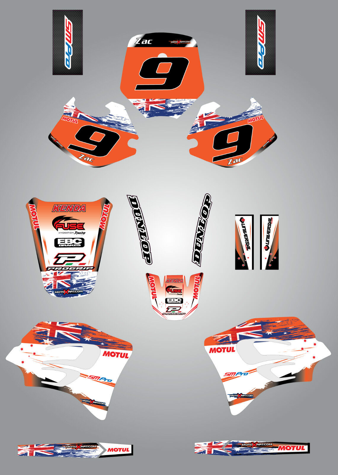 Full Graphics kit stickers decals fits KTM 65 2002-2008  DUKE STYLE custom