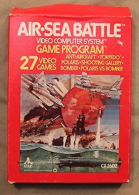 M Original Atari 2600 Cx 2602 Air Sea Battle Computer Game System Game Program