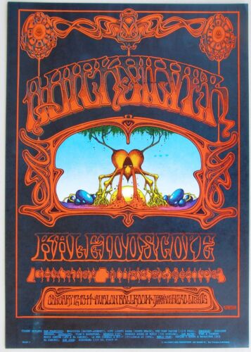 FAMILY DOG FD 101 Rick Grifffin Avalon Poster: Quicksilver, Kaleidoscope 1968