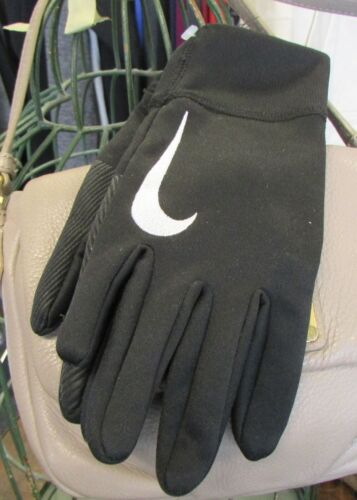 NIKE Black Soccer Field Gloves Kids Youth M Boys Girls