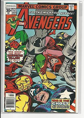 Kirby-cover (AVENGERS # 157 (KIRBY COVER, MAR 1977), FN/VF)
