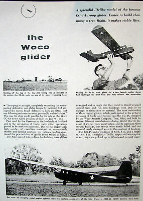 WACO CG-4A PLAN + CONSTRUCTION ARTICLE to Build a RC Scale Glider Model Airplane for sale  Birmingham