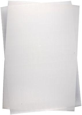 (1m²=16,65€) Schrumpffolie transparent mattiert 10 Bögen 20 x 30 cm & Anleitung