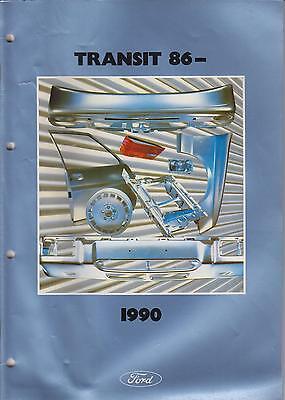 FORD TRANSIT MK3 SWB LWB VAN MINIBUS CAB '86-90 BODY PANELS PICTORIAL PARTS LIST