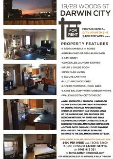 Darwin City Unit for rent