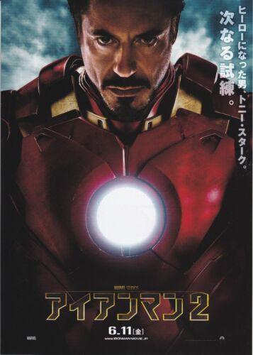 IRON MAN 2 -Original Japanese Movie Promotion flyer Mini Poster Chirashi set