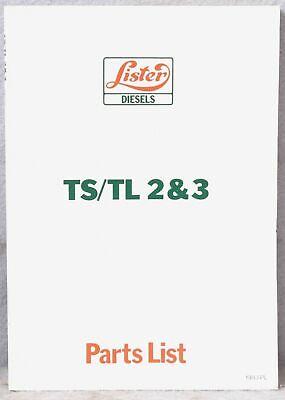 Lister Diesels Tstl 23 Parts List Diagram Manual