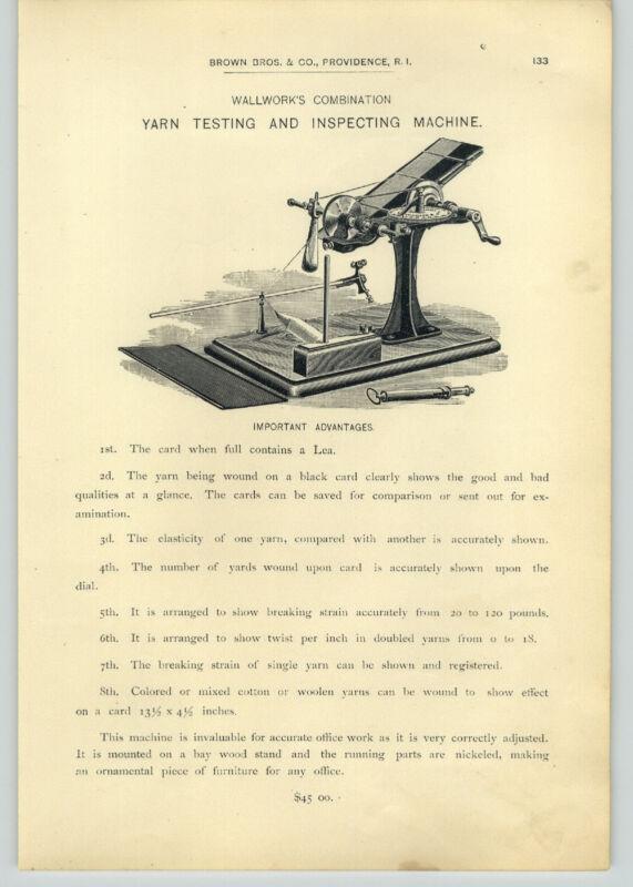 1890 PAPER AD Wallwork