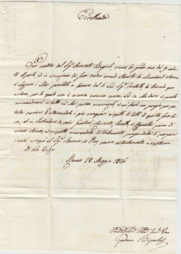 1826 rome italy to malta entire letter charge mark postage due jun