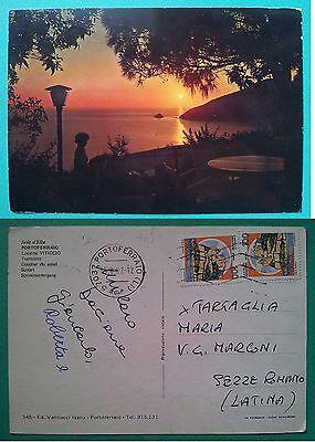 Isola d' Elba - Portoferraio località Viticcio - Tramonto 1982