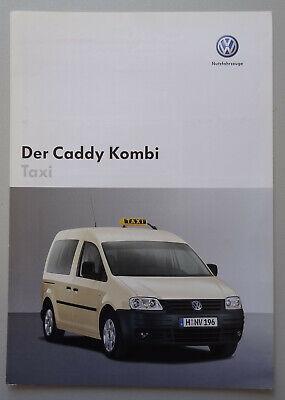 V19903 VOLKSWAGEN CADDY KOMBI TAXI - CATALOGUE - 09/04 - A4 - D