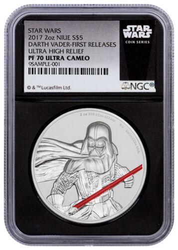 2017 Niue Star Wars Darth Vader UHR 2 oz Silver NGC PF70 UC FR Blk SKU49473