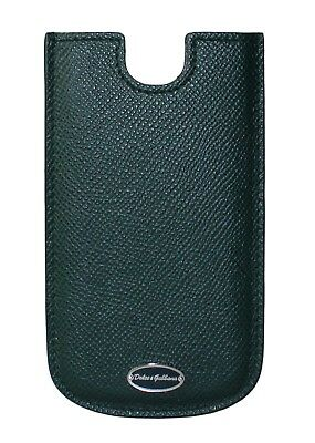 NEW DOLCE & GABBANA Phone Case Cover Green Logo Leather 13x7,5 cm