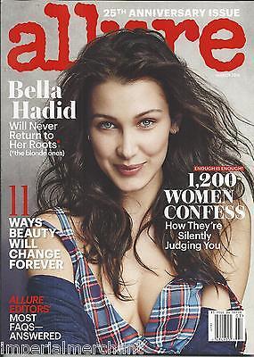 Allure magazine Bella Hadid Women confessions Naomi Campbell  Anniversary issue