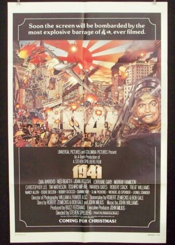 1941 / Vintage Original 1979 One Sheet Teaser Movie Poster / AYKROYD / BELUSHI