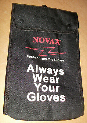 Electricians Linesman Rubber Insulated Safety Gloves Storage Bag 148-2146 New