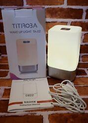 Wake Up Light Alarm Clock w/ Sunrise Simulation & Natural Sounds TITIROBA TA-02