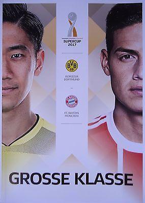 Programm Aufstellung & Statistik Supercup 2017 Borussia Dortmund Bayern München