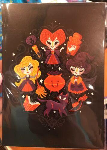 Disney WonderGround Halloween Hocus Pocus Sanderson Sisters Postcard Caley Hicks