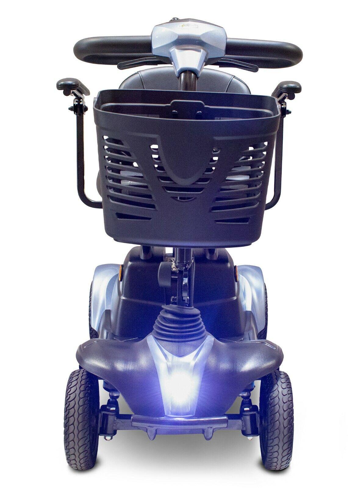 Blue EWheels EW-M39 Mobility Scooter, 300 lb Cap, 15 Mile Ra