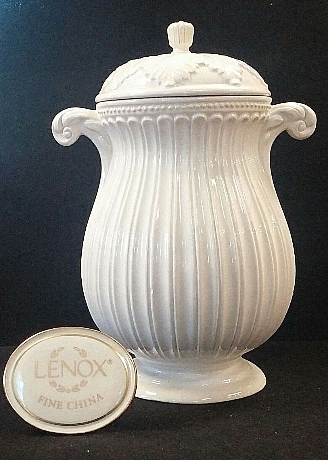 LENOX BUTLER S PANTRY Large Canister 13  - $389.95