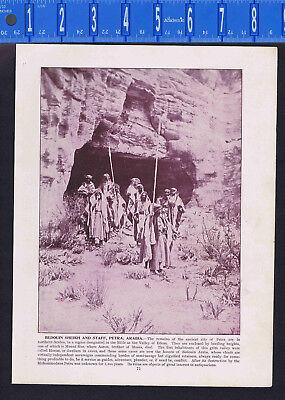 ARABIA An Arabesque Salon & Bedouin Sheikh and Staff, Petra-1893 Print (Sheik Arabia)