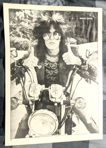 MOTLEY CRUE / NIKKI SIXX / HEART / MAGAZINE FULL PAGE PINUP POSTER CLIPPING