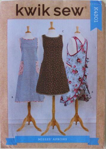 Kwik Sew 4301 Misses Wrap Around Aprons Sewing Pattern Sz XS-XL