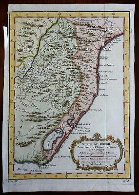 Southern Brazil Paraguay Rio de la Plata So. America 1757 Didot engraved map