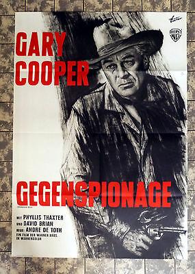 GARY COOPER * GEGENSPIONAGE - A1-FILMPOSTER WA ´60er- German 1-Sheet RR´60s (Gary Cooper-poster)