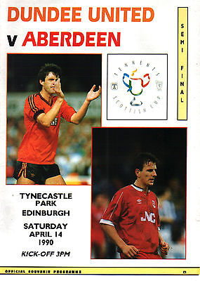 1989/90 Dundee United v Aberdeen, Scottish Cup Semi Final, PERFECT CONDITION