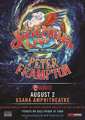 STEVE MILLER/PETER FRAMPTON 2017 CONCERT TOUR POSTER FOR SALT LAKE OR BALTIMORE - $11.99