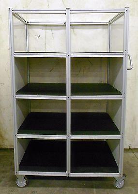 8020 Industrial Material Handling Cart 8 Shelves 34 Depth 19 W. 13 34 H