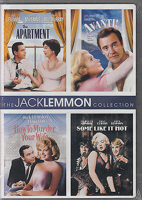 The Jack Lemmon Star Collection (DVD, 2009, 4-Disc Set) New